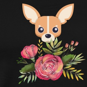 chihuahua rose - Men's Premium T-Shirt