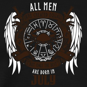 all men are equal to July star sign cancer - Men's Premium T-Shirt
