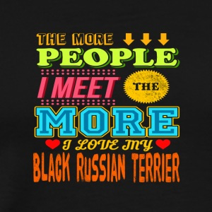 Black Russian Terrier - Herre premium T-shirt
