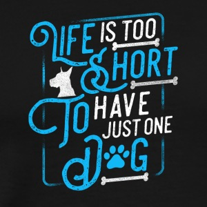 Dog owner / funny DOGS - Men's Premium T-Shirt