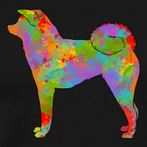 Akita Inu Multicolored - Men's Premium T-Shirt