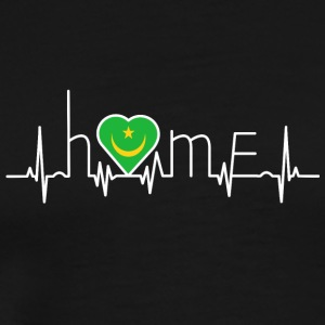 i love home hometown Mauritania - Men's Premium T-Shirt