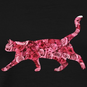 flower cat - Männer Premium T-Shirt