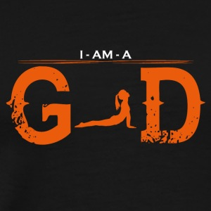 I AM GOD legend ballet yoga 3 - Männer Premium T-Shirt