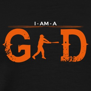 I AM GOD legend baseball homerun base 2 - Männer Premium T-Shirt