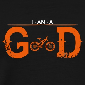 I AM GOD radikalt mountainbike cyklus - Herre premium T-shirt