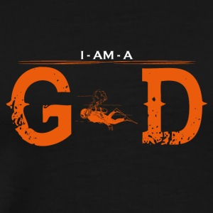I AM GOD legend diving snorkel - Men's Premium T-Shirt