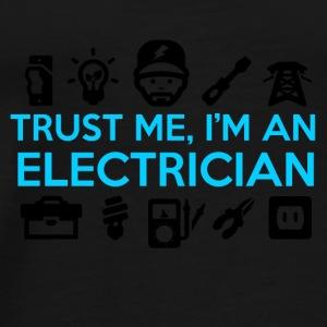 Electrician / Electrician with logos - Men's Premium T-Shirt