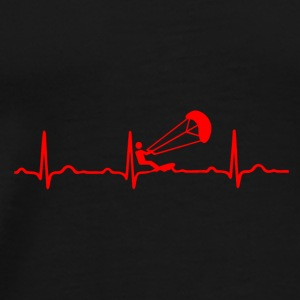 ECG HEARTBEAT KIT SURFING Red - Men's Premium T-Shirt