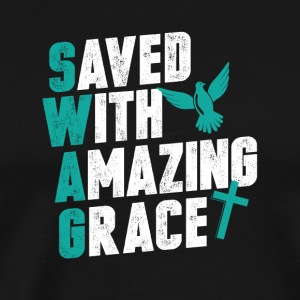 Save with amazing grace - Men's Premium T-Shirt