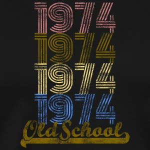 Old School 1974 Retro skjorta - Premium-T-shirt herr