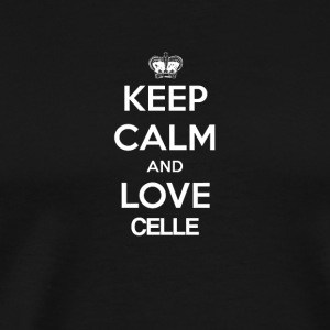Keep Calm and love CELLE - Men's Premium T-Shirt