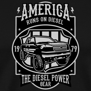 Runs On Diesel2 - Men's Premium T-Shirt