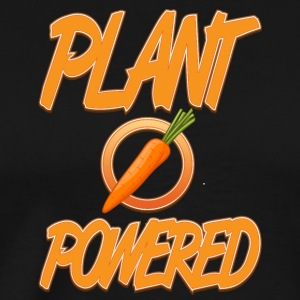 vegan t shirt PLant powered - Men's Premium T-Shirt