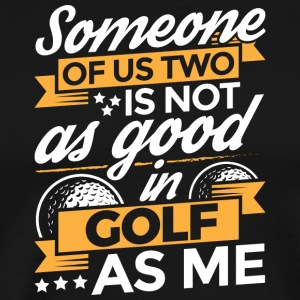 Person af amerikanske golf - Herre premium T-shirt