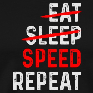 SPEED REPEAT - Mannen Premium T-shirt