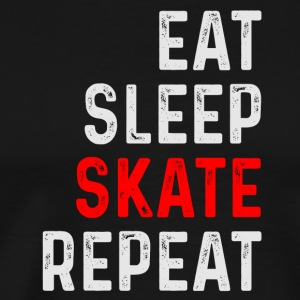 EAT SLEEP SKATE REPEAT SKATER SHIRT - Herre premium T-shirt