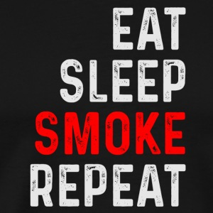 EAT SLEEP SMOKE REPEAT - Männer Premium T-Shirt