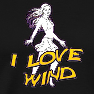 I love wind - Men's Premium T-Shirt