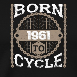 Born to cycle moutainbike bicycle 1961 - Men's Premium T-Shirt