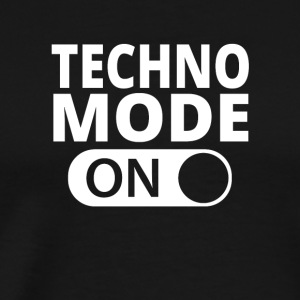MODE ON TECHNO - Maglietta Premium da uomo