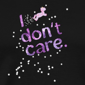 Dont Care Unicorn amour ananas licorne - T-shirt Premium Homme