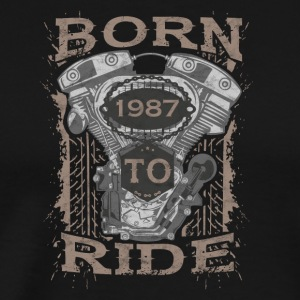 Born to motorfiets rijden in 1987 - Mannen Premium T-shirt
