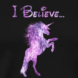 i believe unicorns queens shine born - Männer Premium T-Shirt