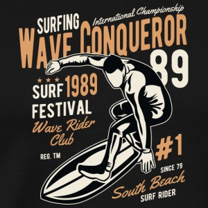 Surfing wave surf beach sun beach wave - Men's Premium T-Shirt