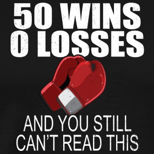 50 Wins 0 Losses Lustiges Boxing T-Shirt - Männer Premium T-Shirt