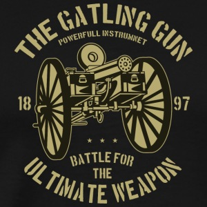 The Gatling gun2 - Premium T-skjorte for menn