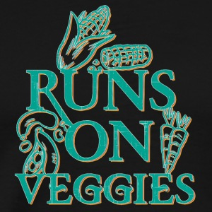 vegan t shirt Runs on veggies - Men's Premium T-Shirt