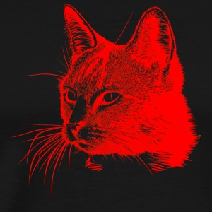 Cat head red, cat, cat, pet - Men's Premium T-Shirt