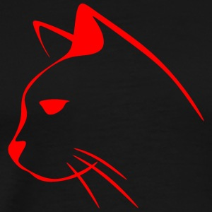 Red, cat, hangover - Men's Premium T-Shirt
