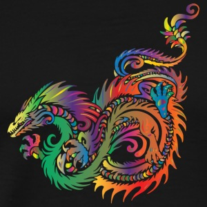Dragon - Tribal - Premium-T-shirt herr