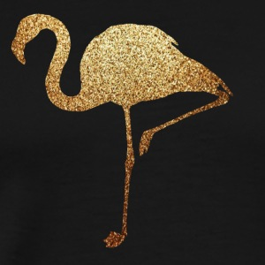 golden flamingo - Premium T-skjorte for menn