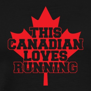 This canadian loves running - Männer Premium T-Shirt