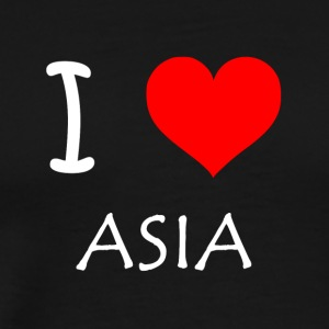 I Love ASIA - Premium T-skjorte for menn