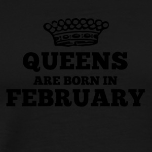 Queens are born in february - Men's Premium T-Shirt