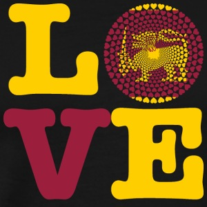 SRI LANKA HEART - Premium T-skjorte for menn