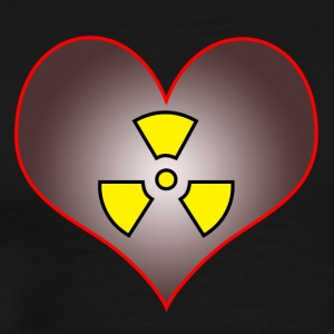 Radioactive heart - Men's Premium T-Shirt
