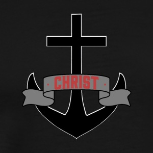 Jesus Christ Anchor Pray Church God Holy Spirit - Men's Premium T-Shirt