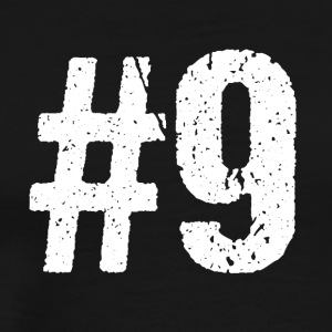 Teamspeler hashtag Number 9 Nine team - Mannen Premium T-shirt