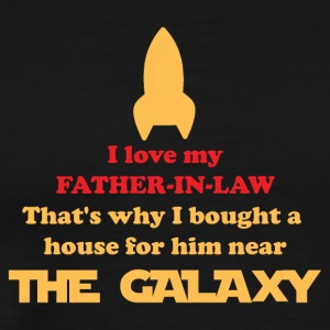 Father in Law Rocket Gift House near Galaxy - Männer Premium T-Shirt