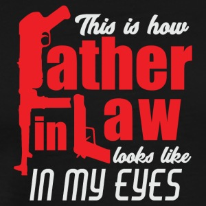 Father in Law Love my Pops Papa is the Best - Men's Premium T-Shirt