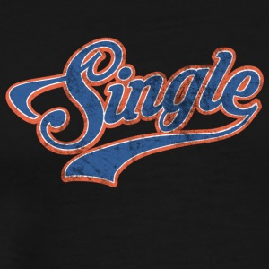 Cool single motif for singles - Men's Premium T-Shirt