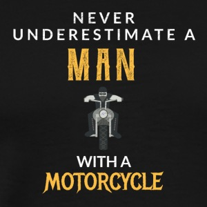 Never underestimate a man with a bicycle! - Men's Premium T-Shirt