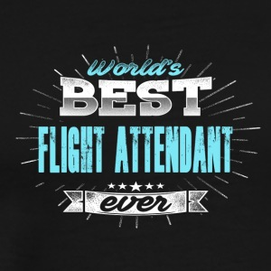 World's Best Flight Attendants - Mannen Premium T-shirt