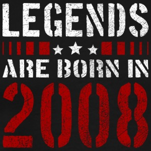 LEGENDS ARE BORN IN 2008 BIRTHDAY CHRISTMAS SHIRT - Männer Premium T-Shirt