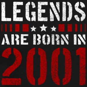 LEGENDS ARE BORN IN 2001 BIRTHDAY CHRISTMAS SHIRT - Männer Premium T-Shirt